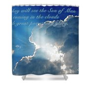 Mark 13 26 Shower Curtain