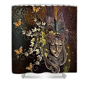 Mask Of The Wind Shower Curtain