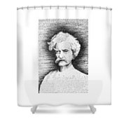 Mark Twain In His Own Words Shower Curtain