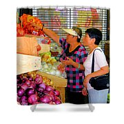 Market At Bensonhurst Brooklyn Ny 2 Shower Curtain