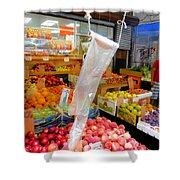 Market At Bensonhurst Brooklyn Ny 3 Shower Curtain