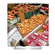 Market At Bensonhurst Brooklyn Ny 4 Shower Curtain