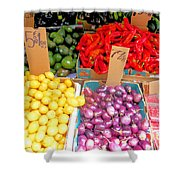 Market At Bensonhurst Brooklyn Ny 6 Shower Curtain