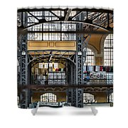 Market Bars And Windows Shower Curtain