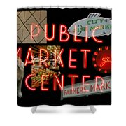 Market Collage Shower Curtain