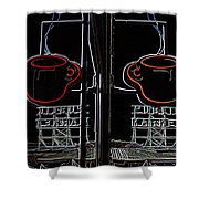Market Cup 3 Shower Curtain