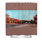 Market Day Shower Curtain by Linda Feinberg