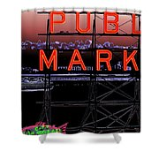 Market Ferry 2 Shower Curtain