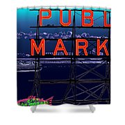 Market Ferry Shower Curtain