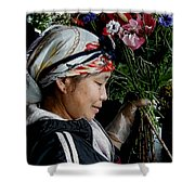Market Flowers Shower Curtain