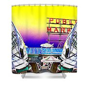 Market Reflect Shower Curtain