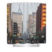 Market Street Philadelphia - In The Morning Shower Curtain