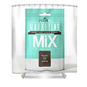 Marketing Mix 4 P's Shower Curtain