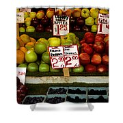 Marketplace Fruit Shower Curtain