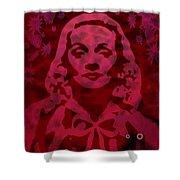 Marlene In Red  Shower Curtain
