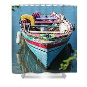 Marley Rowboat Rodney Bay Saint Lucia Shower Curtain