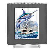Marlin Commission  Shower Curtain