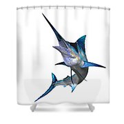 Marlin Profile Shower Curtain