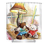 Marlon Blanco And Truffle Mcfurry In Whitby Shower Curtain