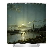 Marlow On Thames Shower Curtain