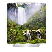 Marmore Waterfalls Italy Shower Curtain
