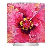 Maron's Hibiscus Shower Curtain