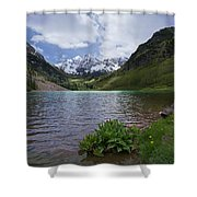 Maroon Bells Spring Shower Curtain