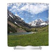 Maroon Bells Wilderness Panorama Shower Curtain