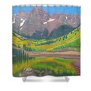Maroon Lake Shower Curtain