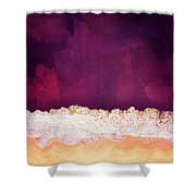 Maroon Ocean Shower Curtain