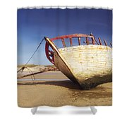 Marooned Boat Shower Curtain