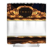 Marquee Lights Blank Sign Shower Curtain