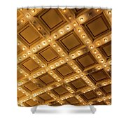 Marquee Lights On Theater Ceiling Shower Curtain
