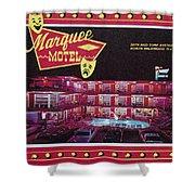 Marquee Motel 1960's Wildwood, Nj, Copyright Aladdin Color Inc. Shower Curtain