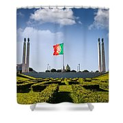 Marques De Pombal Gardens In Lisbon Shower Curtain