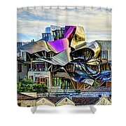marques de riscal Hotel at sunset - frank gehry Shower Curtain