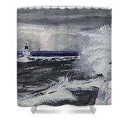 Marquette Channel Marker Shower Curtain