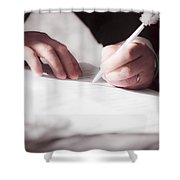 Marriage Certificate Shower Curtain