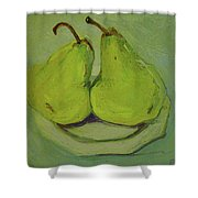 Marriage Of The Pears Shower Curtain