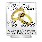 Marriage Vows Shower Curtain