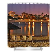 Marriott Lagoon Shower Curtain