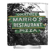 Marro's Restaurant Shower Curtain