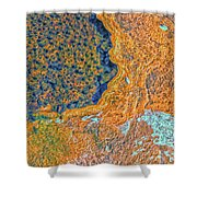 Mars Abstract Shower Curtain