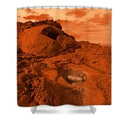 Mars Landscape Shower Curtain