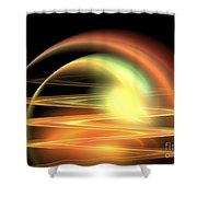 Mars Waves Shower Curtain