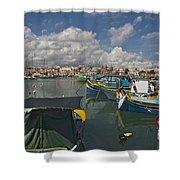 Marsaxlokk Shower Curtain