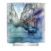 Marseille Back Street Shower Curtain