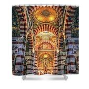 Marseille, France, Inside Of Notre-dame De La Garde Catholic Basilica Shower Curtain