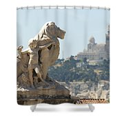 Marseille-saint-charles Statue, France Shower Curtain