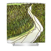 Marsh 4 Shower Curtain